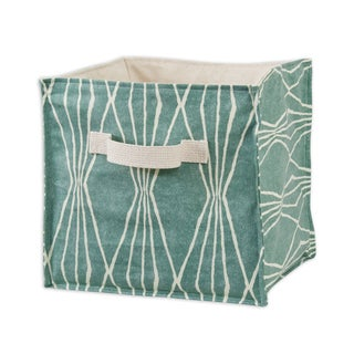 Handcut Shapes Rain Soft Sided Storage Container with Canvas Handle