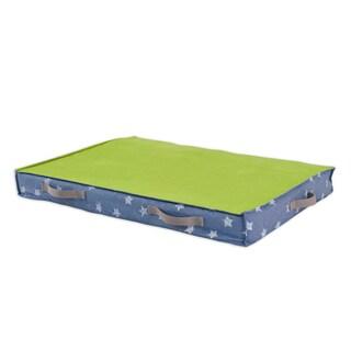 Denim Stars Under the Bed Storage with Canvas Handle