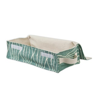 Soft Sided Handcut Shapes Rain Storage Container with Canvas Handle