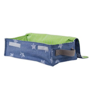 Soft Sided Denim Stars Storage Container with Canvas Handle