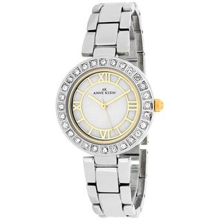 Anne Klein Women's 10-9621MPTT Classsic Round Silvertone Stainless Steel Bracelet Watch