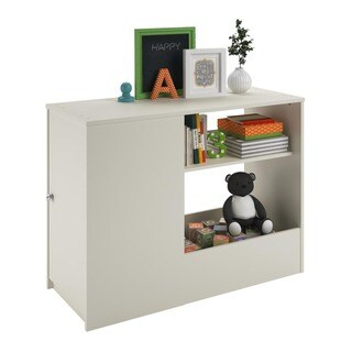 Altra Elements White Toy Box Bookcase with Door by Cosco
