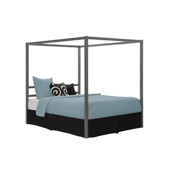 DHP Modern Grey Queen Canopy Bed   Free Shipping Today   Overstock com    17524214. DHP Modern Grey Queen Canopy Bed   Free Shipping Today   Overstock