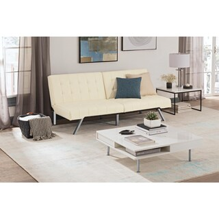 Clay Alder Home Isleton White Convertible Futon