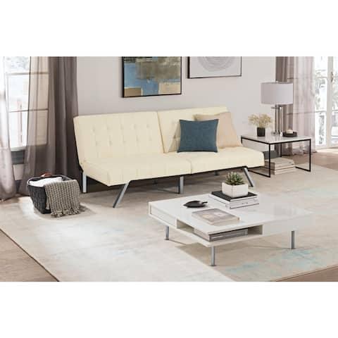 Porch & Den Isleton White Convertible Futon