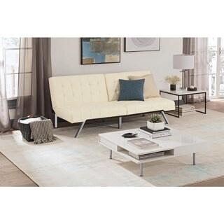 Link to Porch & Den Isleton White Convertible Futon Similar Items in Living Room Furniture