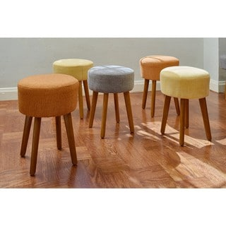 Link to Porthos Home Wallace Linen Upholstered Stool Similar Items in Ottomans & Storage Ottomans