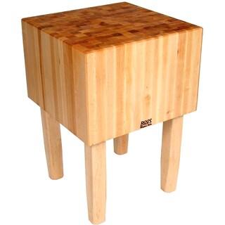 John Boos 50x30 Maple Butcher Block Table AA07 & Bonus J A Henckels 13 Piece Knife Set.