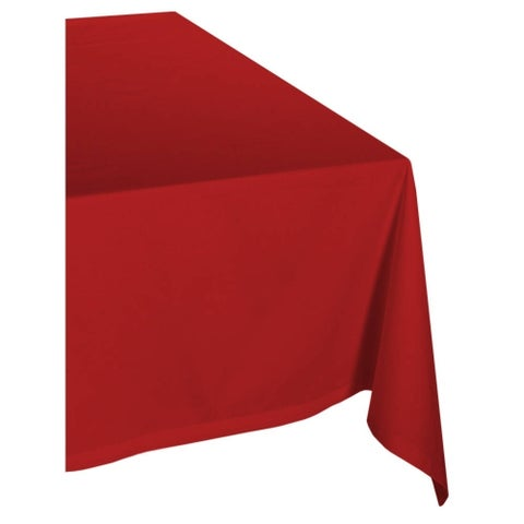 Red Poly 60-inch x 104-inch Tablecloth