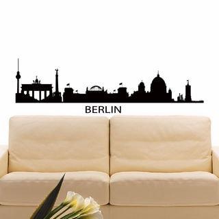 Berlin Skyline Silhouette Vinyl Wall Art Decal Sticker