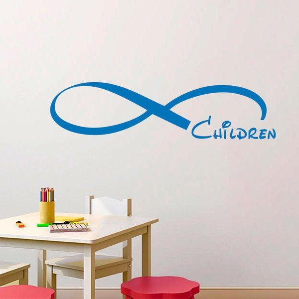 Shop Children Infinity Symbol Blue Vinyl Sticker Wall Art Free