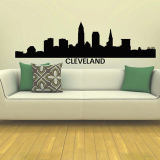 Cleveland Skyline City Silhouette Vinyl Wall Art Decal Sticker