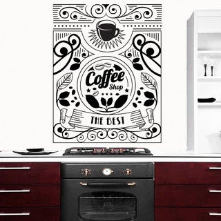 Coffee Cup Beans Coffee Shop Decor Vinyl Sticker Wall Art