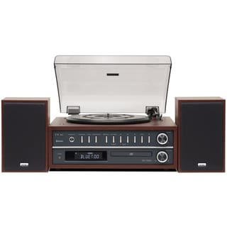 TEAC Cherry Finish Retro Turntable/ CD/ Radio/ NFC Bluetooth Audio System