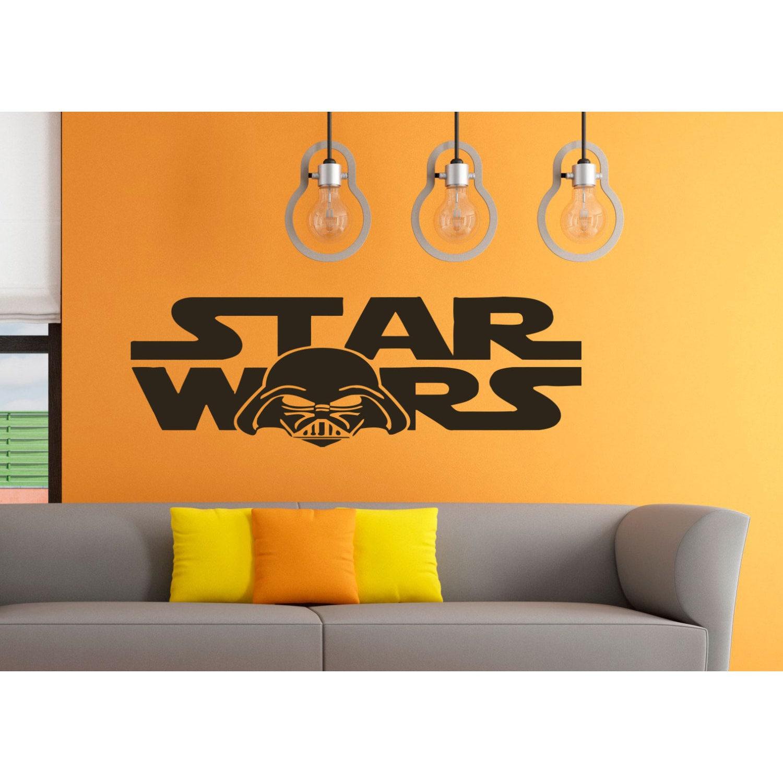 Darth Vader Helmet Star Wars Logo Emblem Vinyl Sticker Wa...