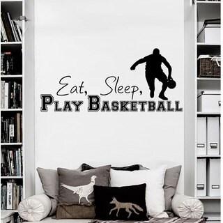 Eat Sleep Play Basketball Vinyl Sticker Wall Art