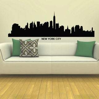 Empire State Ny New York City Skyline City Silhouette Vinyl Wall Art Decal Sticker