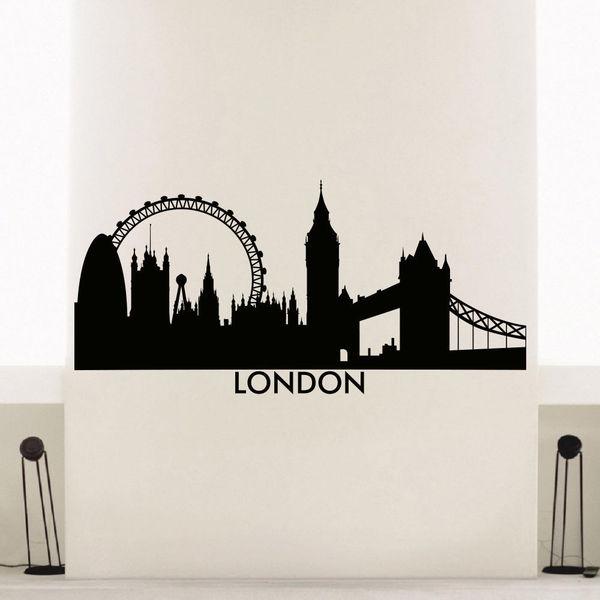 Shop England London Skyline City Silhouette Vinyl Wall Art