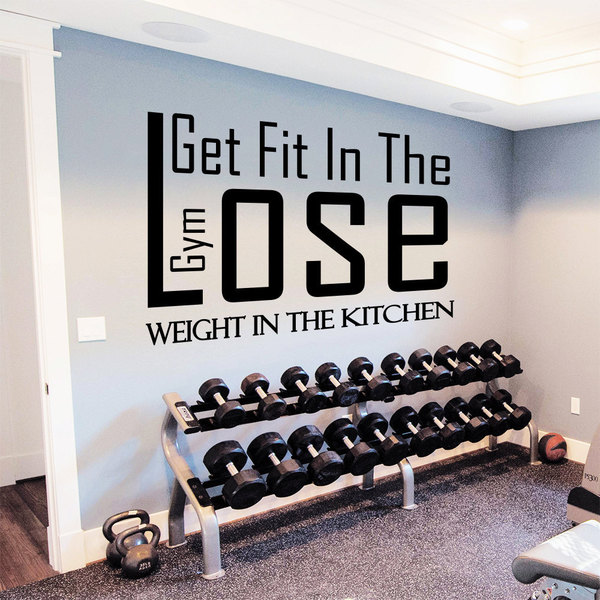 Shop gym decor get fit in the gym vinyl sticker wall art free