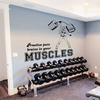 Gym Decor Girl Fitness Vinyl Sticker Wall Art