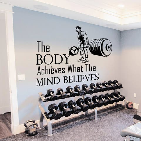 Gym Inspirational Quote Vinyl Sticker Wall Art