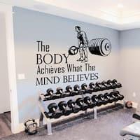 Gym Inspirational Quote Vinyl Sticker Wall Art