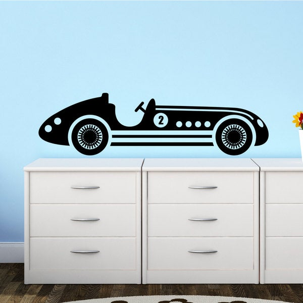 Shop Hot Rod Antique Car Retro Automobile Vinyl Wall Art Decal ...