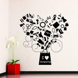 I Love Shopping Vinyl Sticker Wall Art