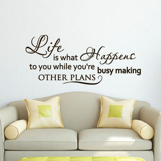 Inspirational Quote About Life Vinyl Sticker Wall Art