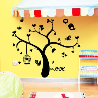 Love Bird Tree Vinyl Sticker Wall Art