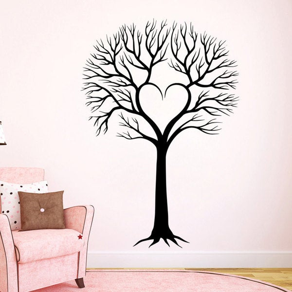 Shop Love Family Tree Vinyl Sticker Wall Art - Free Shipping On ...