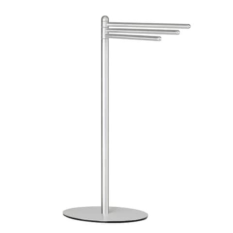Cortesi Home Noli Aluminum Contemporary 3-swing Arm Towel Stand - Silver