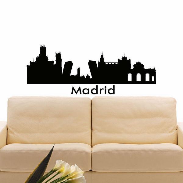Madrid Skyline City Silhouette Vinyl Wall Art Decal Sticker