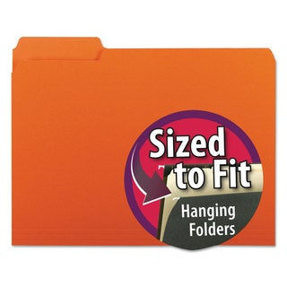 Smead Orange Interior 1/3 Cut Top Tab Letter File Folders (Box of 100)