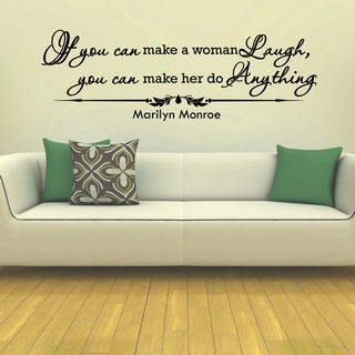 Marilyn Monroe Quote Wall Art Decal Sticker
