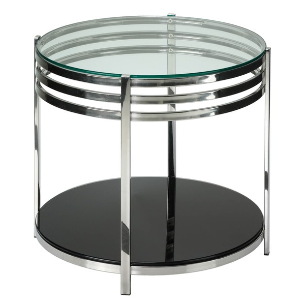 Awesome Cortesi Home Lavia Contemporary Two Tier Round Glass End Table Home Interior And Landscaping Eliaenasavecom