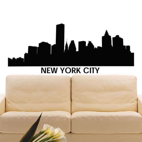 shop new york city skyline silhouette vinyl wall art decal sticker