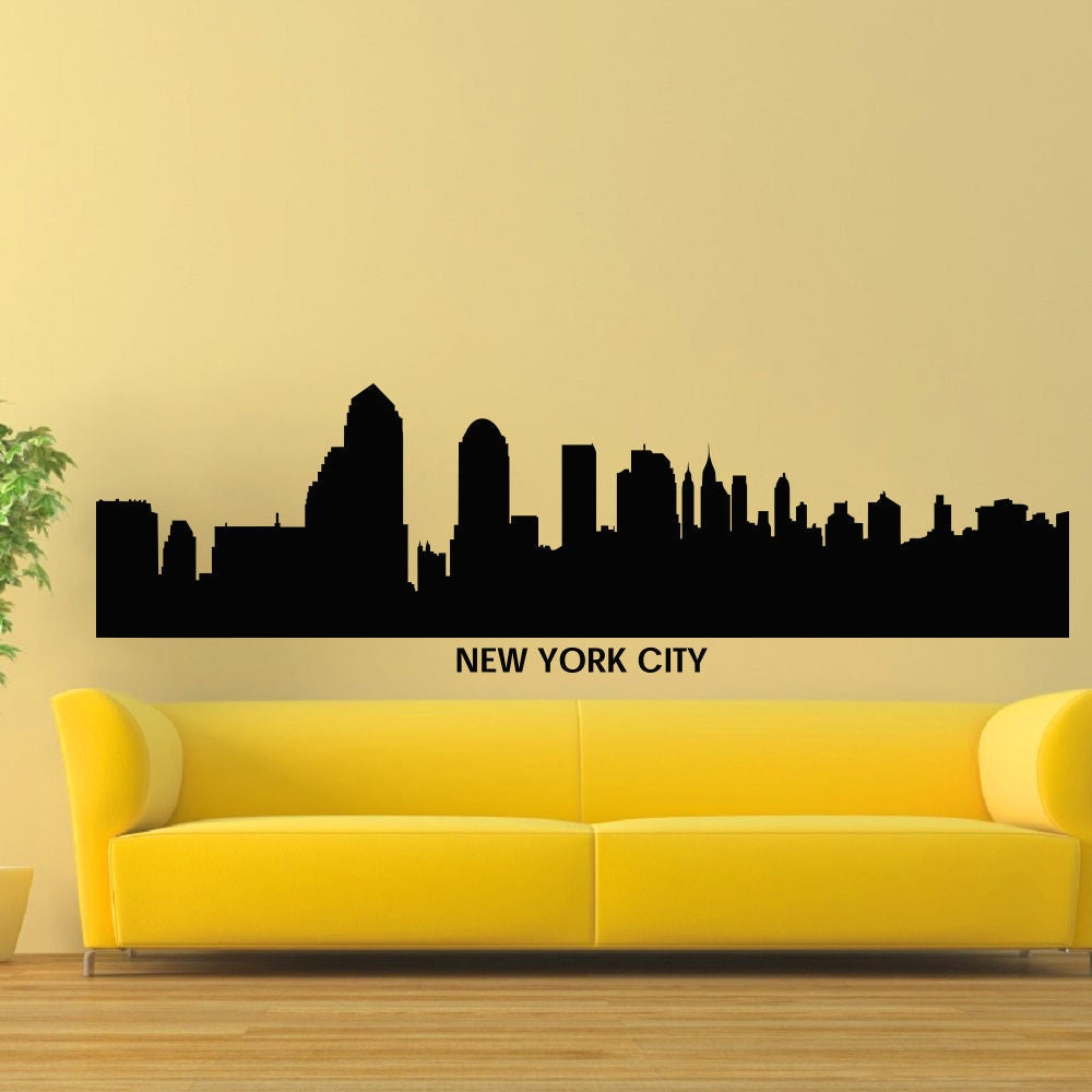 New York City Skyline Vinyl Wall Art Decal Sticker | eBay