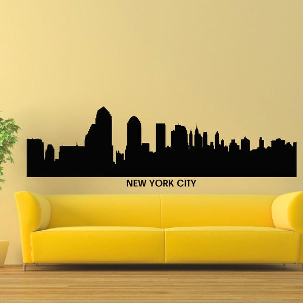 New York City Skyline Vinyl Wall Art Decal Sticker - Free Shipping ...