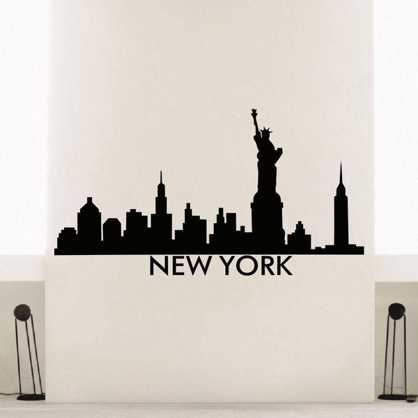Shop New York Skyline City Silhouette Vinyl Wall Art Decal Sticker ...