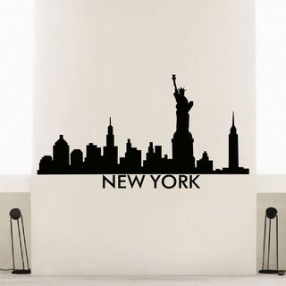 New York Skyline City Silhouette Vinyl Wall Art Decal Sticker