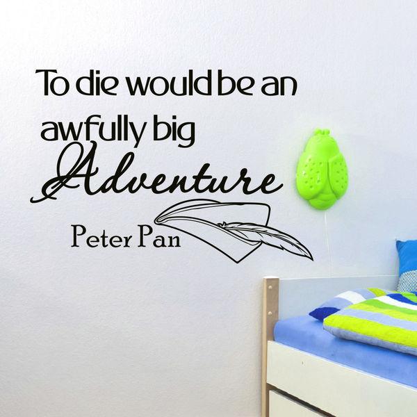 Peter Pan Quote Vinyl Wall Art Decal Sticker