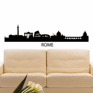 Rome Italy Skyline City Silhouette Vinyl Wall Art Decal Sticker
