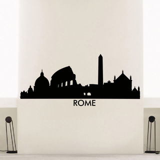 Rome Skyline City Silhouette Vinyl Wall Art Decal Sticker