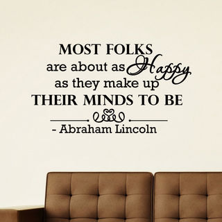 Abraham Lincoln Quote Vinyl Wall Art Decal Sticker