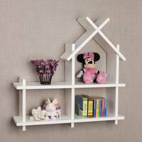 Danya B House Design White Wall Shelf