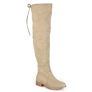 Link to Journee Collection Women's 'Mount' Over-the-knee Faux Suede Boots Similar Items in Women's Shoes