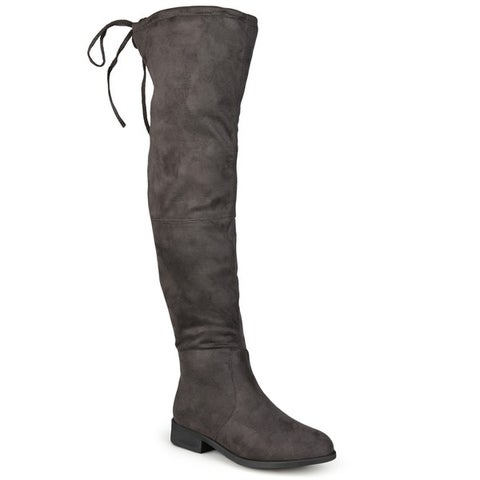 Journee Collection Women's 'Mount' Over-the-knee Faux Suede Boots