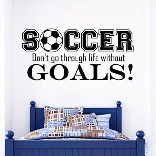Soccer Quote Vinyl Sticker Wall Art