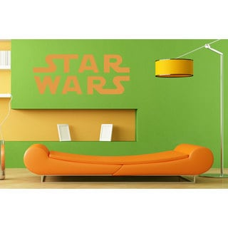Star Wars Logo Emblem Orange Vinyl Sticker Wall Art